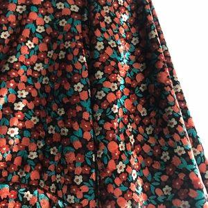 Zara Dresses - Zara floral velvet dress